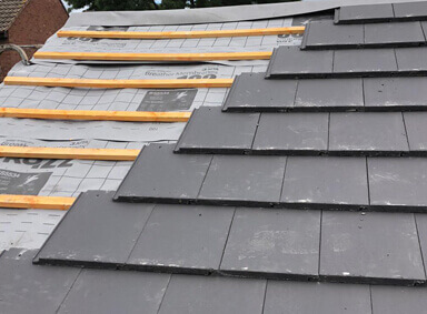 Slate Roof Repair Over Silton
